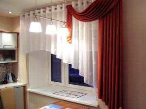 Арочные шторы для кухни