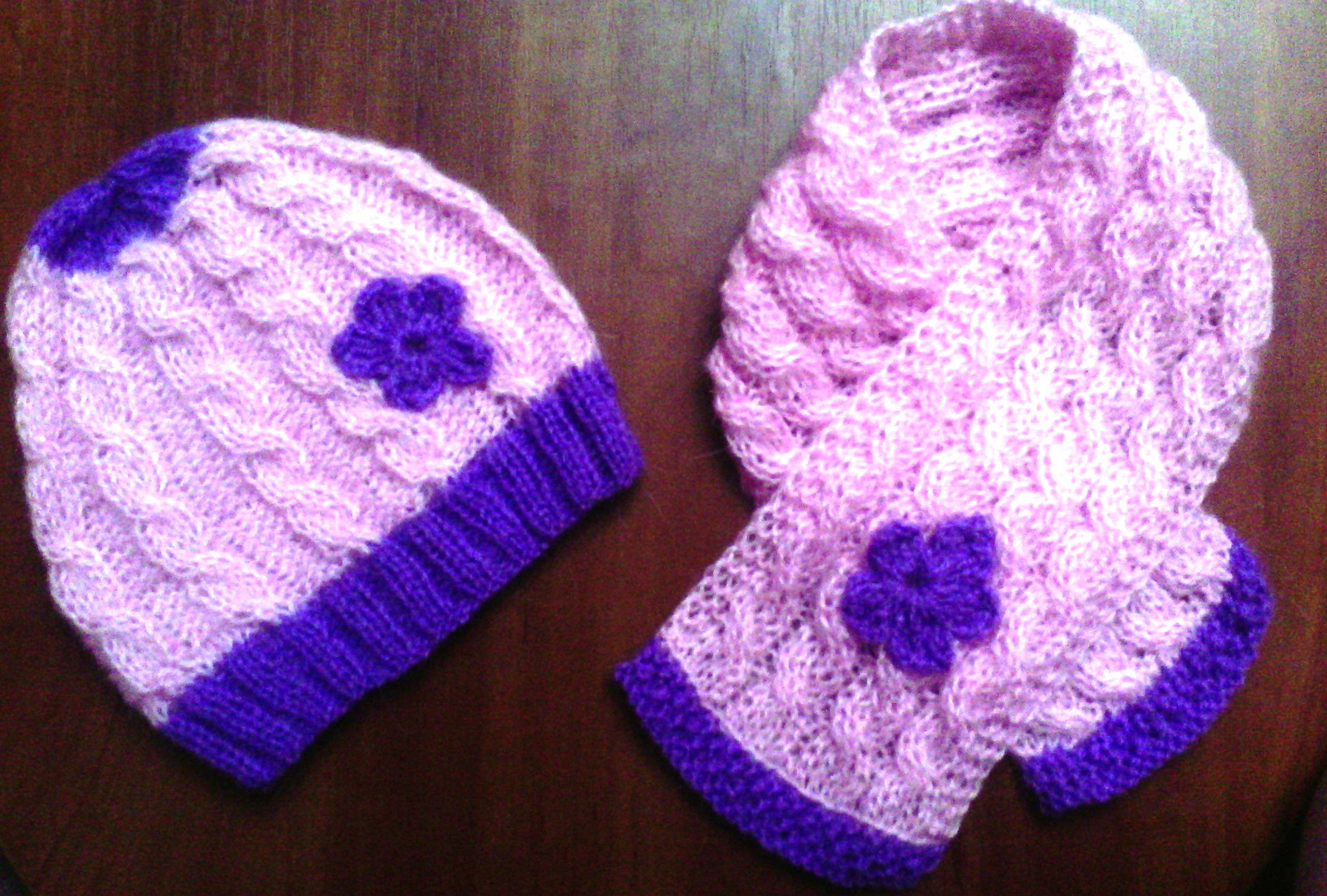 Детский комплект шапочка и шарфик