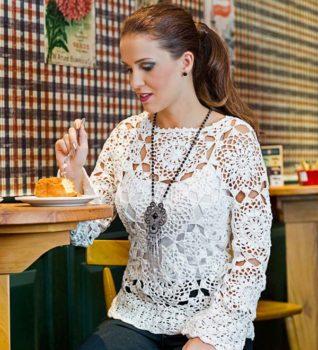 Очень красивая блуза крючком