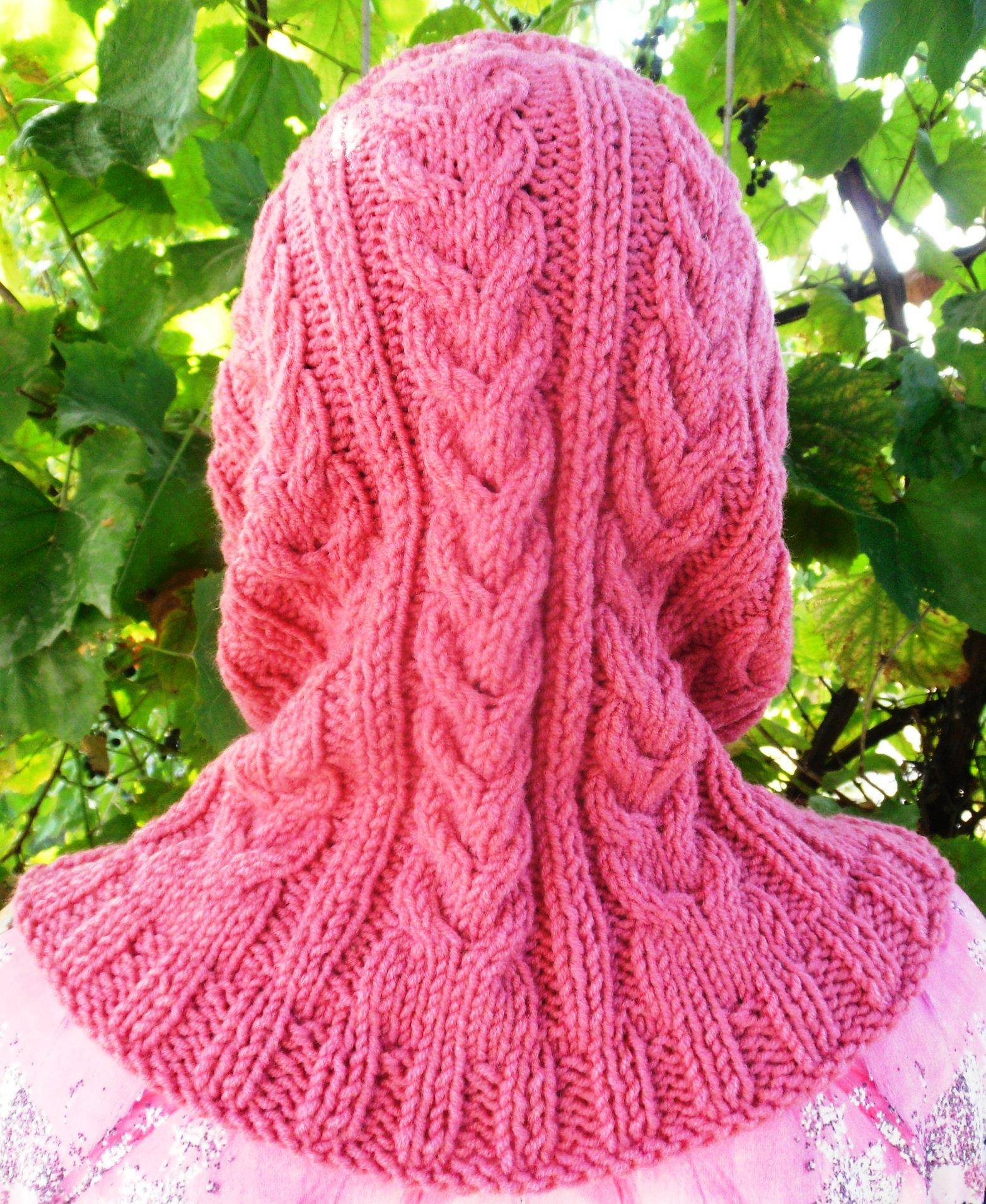Фото вязания спицами капора