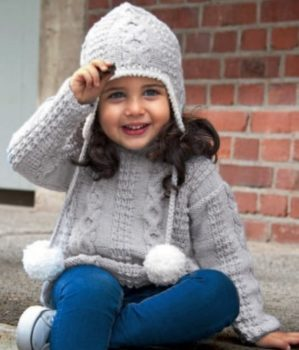 detskii-pulover-s-shapkoi-foto