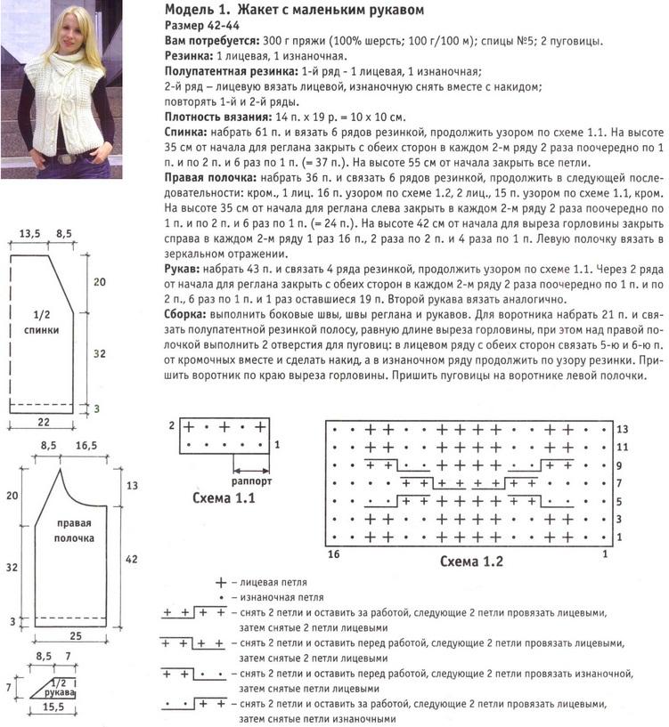 Кардиганы жилеты вязанные спицами со схемами и описанием