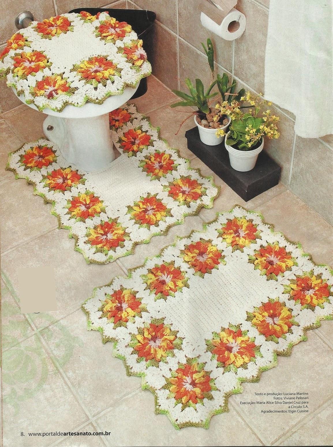 Коврик из коврика для ванной своими руками