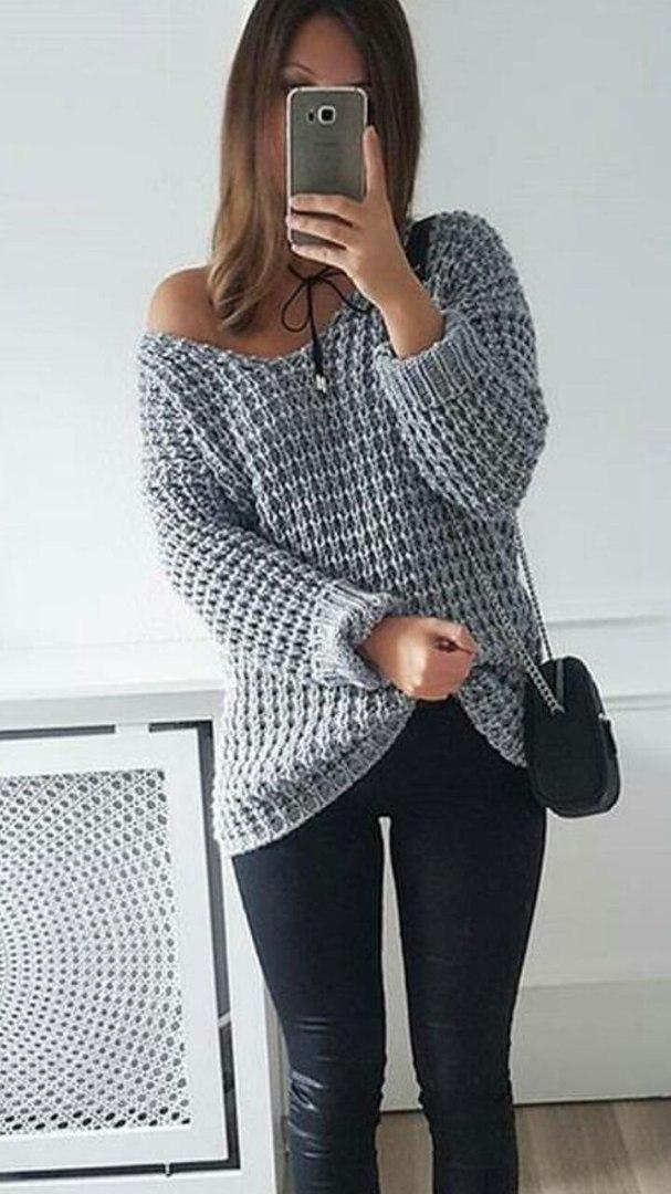 Модный пуловер мужской